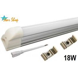 EQUIPO TUBO LED 18W - 120cm, Luz blanca fría y cálida