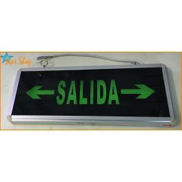LETRERO LED SALIDA DE EMERGENCIA PERMANENTE 220VAC