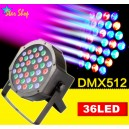 CABEZA PROYECTORA RGB – 36 LEDs, EFECTOS