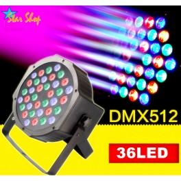 CABEZA PROYECTORA RGB – LED 8x3W , FIJA