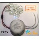 DRIVER CON 36 LED SMD 2850, 220V, AHORRO INMEDIATO