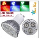 AMPOLLETA LED GU10 COLOR 3W