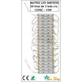 MATRIZ CON 20 PLACAS LED SMD5050 (60 leds)