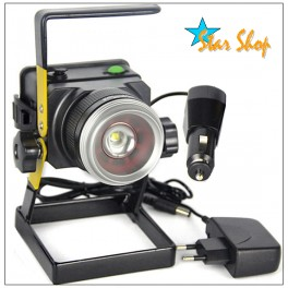 PROYECTOR LED CON ZOOM RECARGABLE IP65