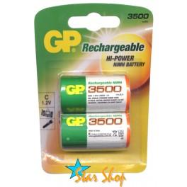 2 Pilas GP Recargables C 3500mAh Originales Ni-Mh