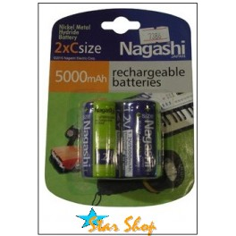 PACK 2 PILAS C RECARGABLES NAGASHI