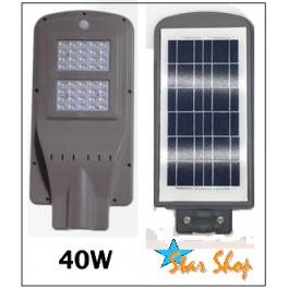 LÁMPARA SOLAR LED ALL-IN-ONE 40W INTEGRADA AUTÓNOMA