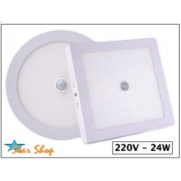 FOCO LED PANEL SOBREPUESTO 24W c/SENSOR MOVIMIENTO