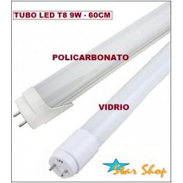 TUBO T8 LED 9W - 60cm, LUZ BLANCA FRÍA y CÁLIDA
