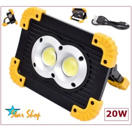 PROYECTOR DOBLE LED CHIP COB 20W LENTE LL-802