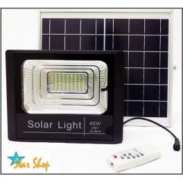 PROYECTOR SOLAR LED 40W CONTROL REMOTO