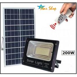 PROYECTOR SOLAR LED 200W CONTROL REMOTO