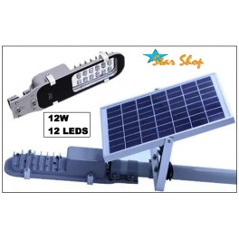 LAMPARA SOLAR-LED 12W,  KIT COMPLETO