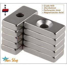 10 IMANES DE NEODIMIO 20x10x4mm