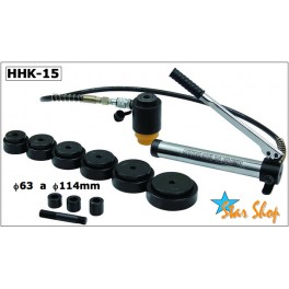 HHK-15 JUEGO KNOCK-OUT PUNZADOR HIDRAULICO, Φ63 a Φ114mm