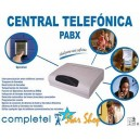 CENTRAL TELEFÓNICA 3x8 COMPLETEL PABX, 3 TRONCALES y 8 ANEXOS