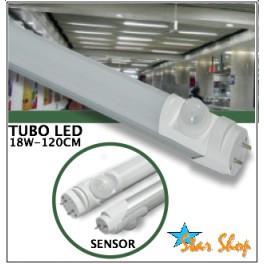 TUBO LED CON SENSOR DE MOVIMIENTO PIR