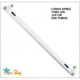 CANOA DOBLE TUBO LED SOBREPUESTA