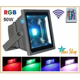 PROYECTOR  RGB COLOR 50W c/CONTROL REMOTO, EFECTOS