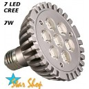 AMPOLLETA LED CREE  7 LEDS – 7W,  PAR 30