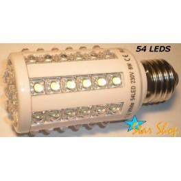 AMPOLLETA  54 LEDS TIPO MAIZ 220V BASE E27
