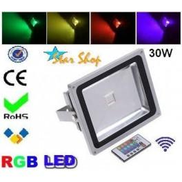 PROYECTOR  RGB COLOR 30W c/CONTROL REMOTO, EFECTOS
