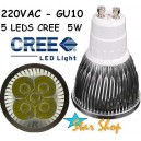 AMPOLLETA LED 5W CREE  BASE GU10, 220V
