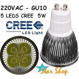 AMPOLLETA LED 5W CREE  BASE GU10, 220V