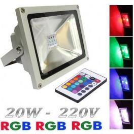 PROYECTOR  RGB COLOR 20W c/CONTROL REMOTO, EFECTOS