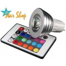 AMPOLLETA LED RGB 16 COLORES CONTROL REMOTO