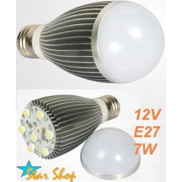 AMPOLLETA 12V LED GLOBO 7W BASE E27