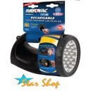 LINTERNA MANUAL RECARGABLE HÍBRIDA RAYOVAC, 19 LEDS