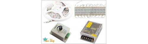 LED: CINTAS, LED-NEÓN, PLACAS, BARRAS, MÓDULOS, FUENTES 12V, PUBLICIDAD
