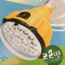 LÁMPARA LED RECARGABLE CONTROL REMOTO YZ-888