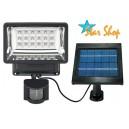 FOCO SOLAR LED c/SENSOR PIR y PANEL