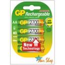 4 PILAS AA GP RECARGABLES Ni-Mh BLISTER