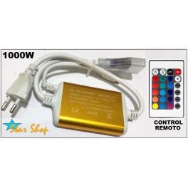 CONTROLADOR CINTA LED-NEÓN RGB C/CONTROL REMOTO