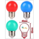 AMPOLLETA BOLA LED E27 COLOR 2W