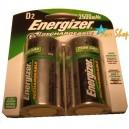 2 Pilas Grandes D Recargables Energizer 2500mAh