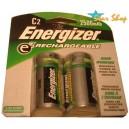2 Pilas Medianas C Recargables Energizer 2500mAh
