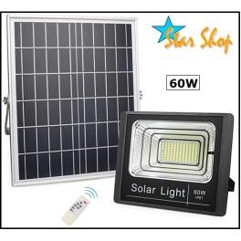 PROYECTOR SOLAR LED 60W CONTROL REMOTO
