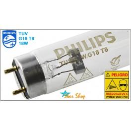 TUBO GERMICIDA UV-C 18W PHILIPS G18T8